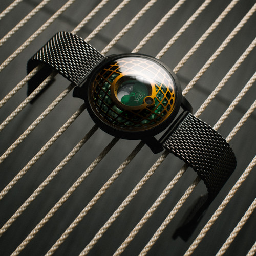 Trappist-1 Moonphase Brass Green Mesh (TMP-3017-MESH)