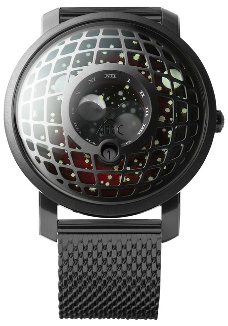 Trappist-1 Moonphase Gunmetal Red Mesh (TMP-3014-MESH) front