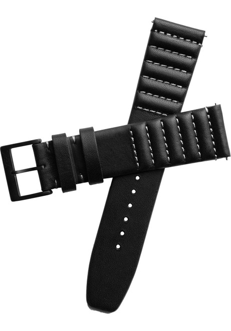 Xeric 20mm Ribbed Horween Leather Black/Gray Strap (XRC-TMP-20-BKGY)