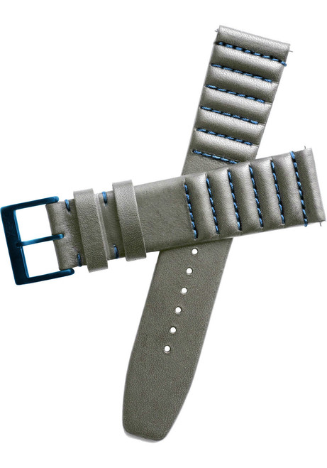 Xeric 20mm Ribbed Horween Leather Gray/Blue Strap (XRC-TMP-22-GYBL)
