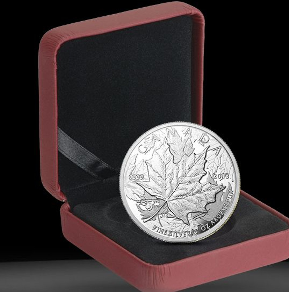 1 oz. Fine Silver High Relief Piedfort Coin - 25th Anniversary of the Silver Maple Leaf  (2013)