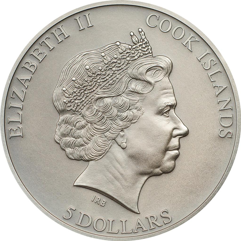 2015 History of the Samurai $5 1oz Silver Coin - Cook Islands