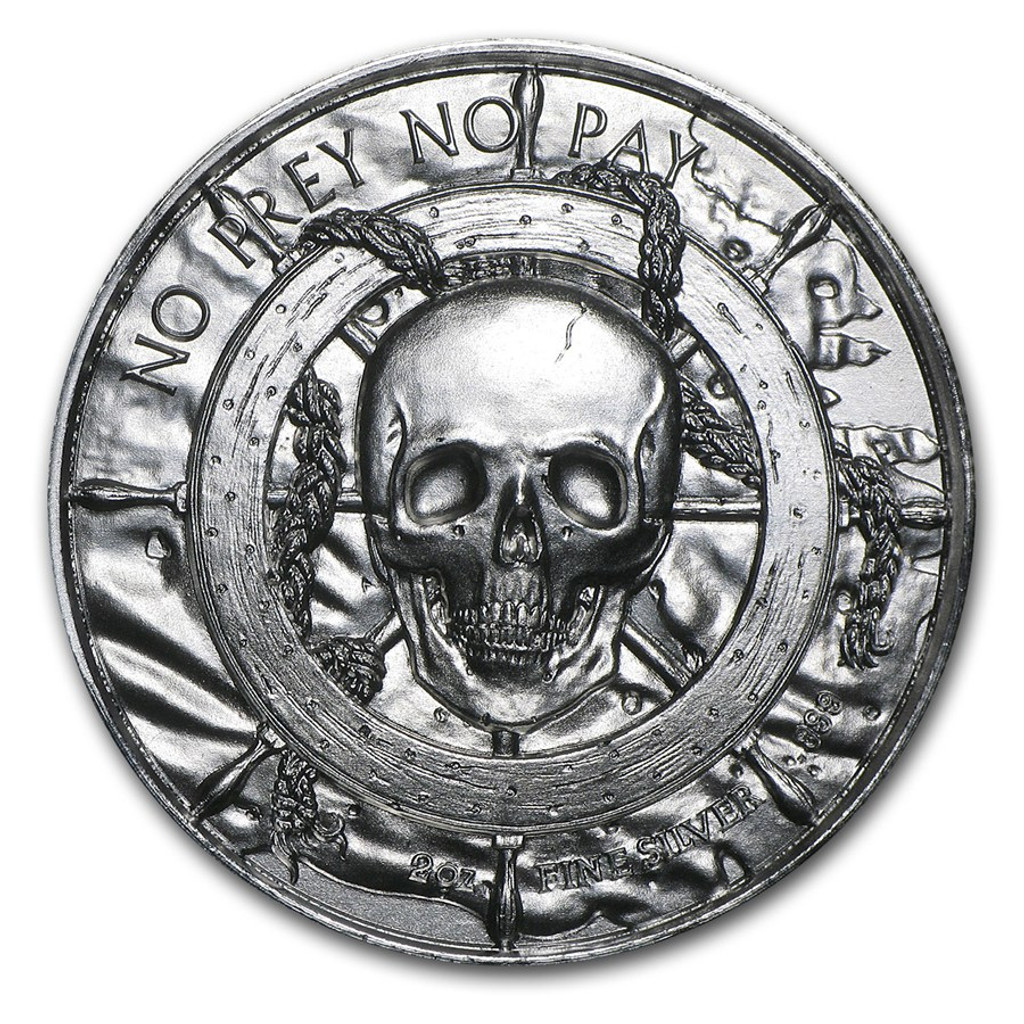 2 oz Silver PRIVATEER Ultra High Relief Round Pirate Coin First In Series