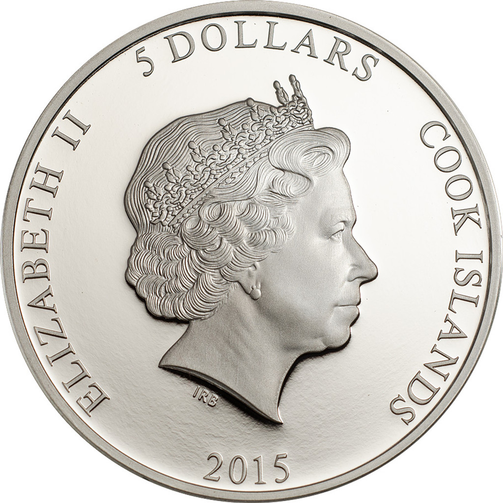 Cook Islands 2015 5$ Magnificent Life – PEACOCK Proof Silver Coin