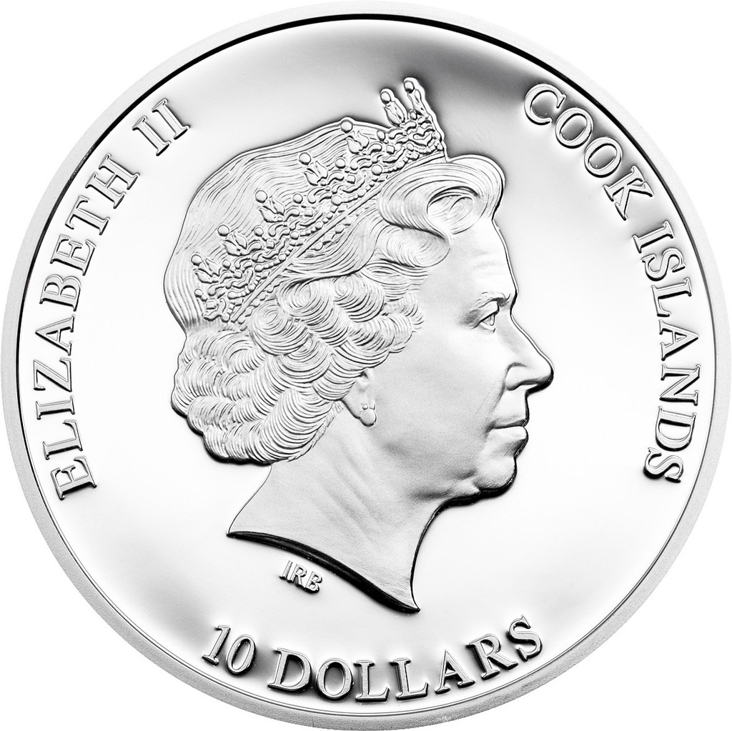 2015 GREAT STAR OF AFRICA Cullinan Diamonds 2 Oz Silver Coin 10$ Cook Islands