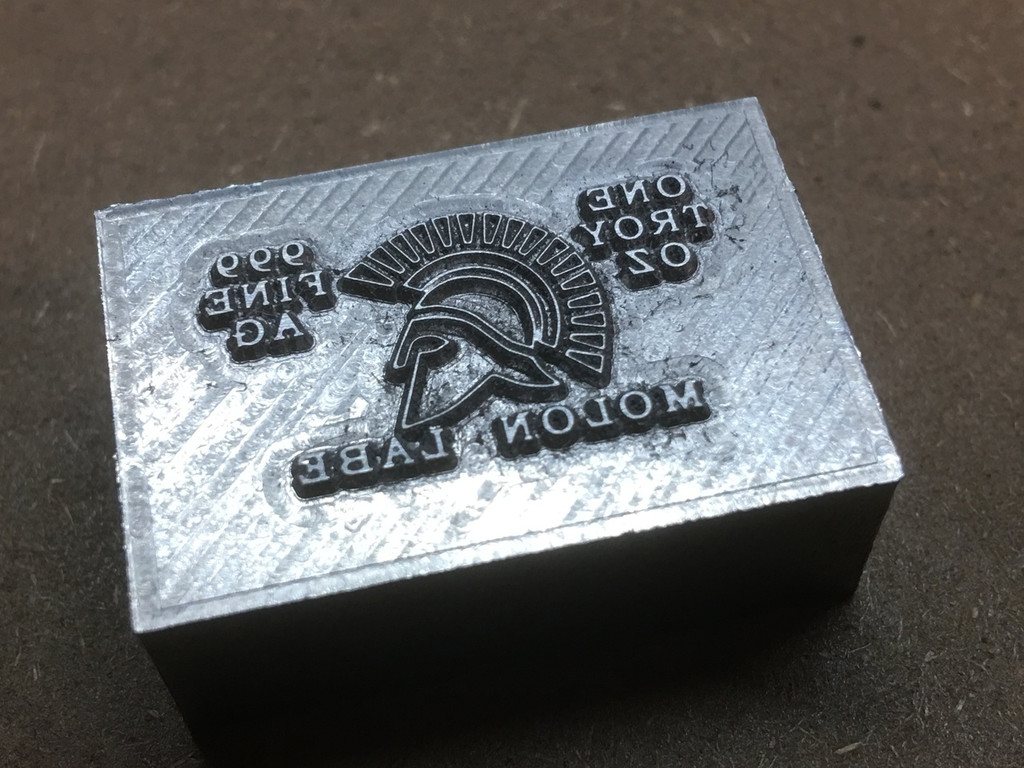 "(5x) 1 oz Hand Pour Silver Bar STACKERS MINT Series ""MOLON LABE"" 2017"