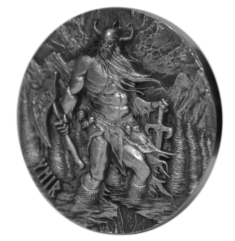 2017 LEGENDS OF ASGARD - YMIR The Father of Giants 3 oz Silver Coin Tokelau
