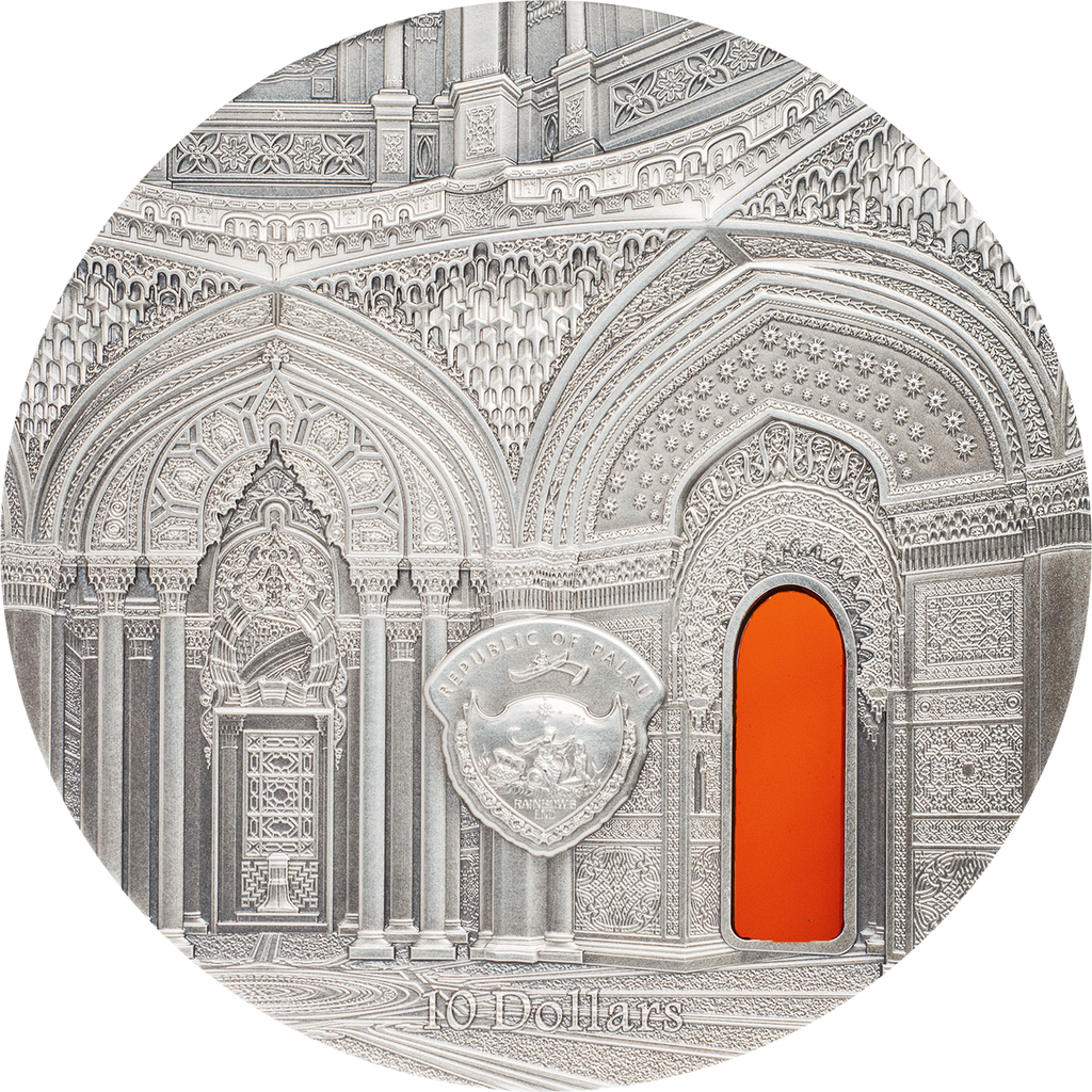 2018 Palau $10 TIFFANY ART Orientalism 2 oz Silver Antique Coin