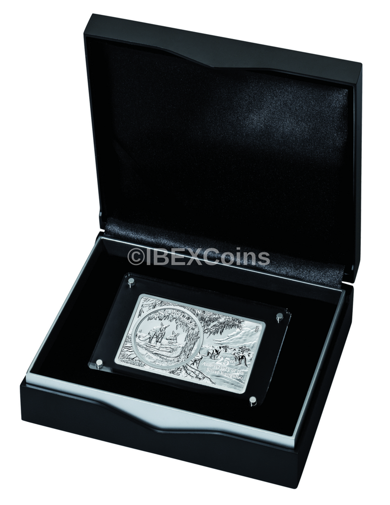 2018 3 oz 30th Anniversary AUSTRALIA KANGAROO Privy Silver Bar and Coin Set Box COA