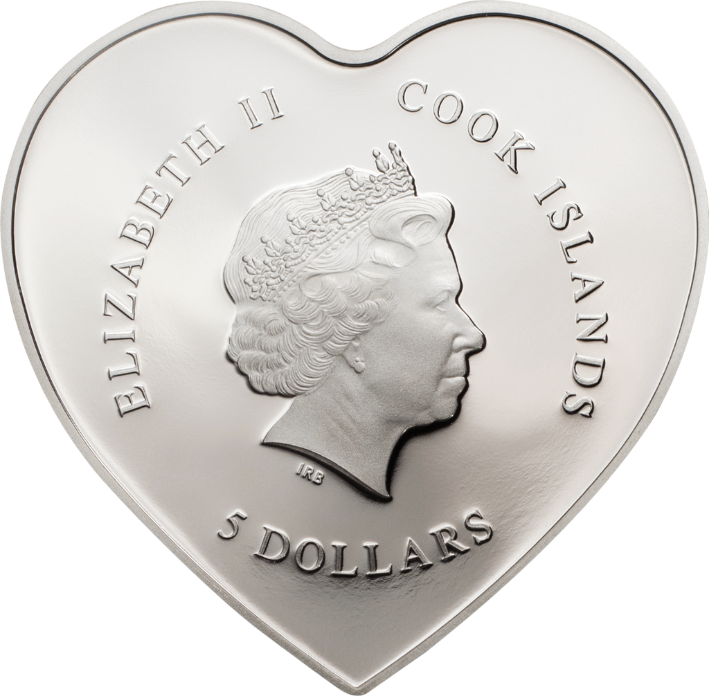 2019 HAPPY VALENTINES DAY Day .999 Proof Silver Coin Cook Islands $5