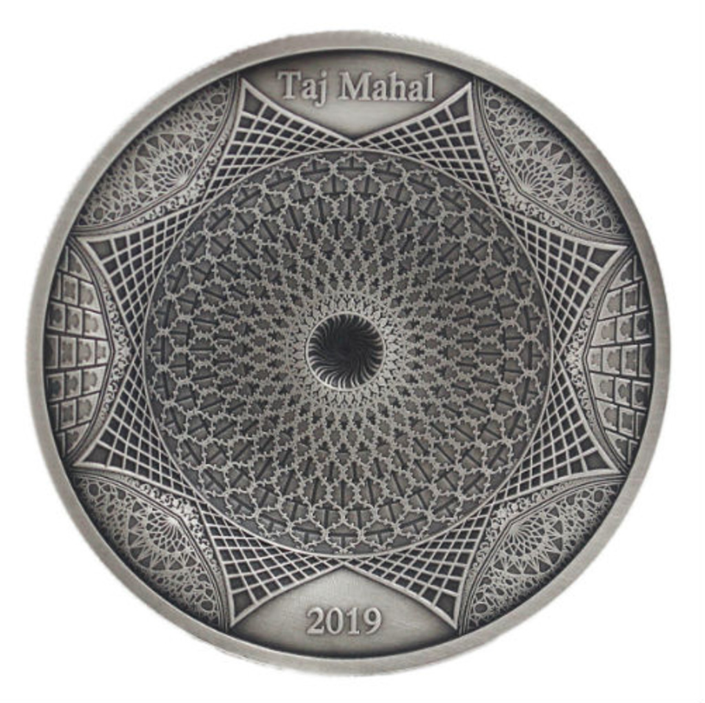 2019 TAJ MAHAL 3.2 oz (100g) Silver 4 Layer Coin Ultra High Relief Solomon Islands