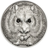 2015 Wildlife Protection - Campbell's Hamster 500 Tugriks 1oz Swarovski & Silver Coin - Mongolia