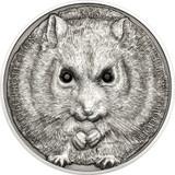 2015 Wildlife Protection - Campbell's Hamster 500 Tugriks 1oz Swarovski & Silver Coin - Mongolia
