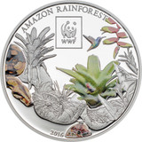 2016 WWF Amazon Rainforest 100 Shillings Cu Ag-plated Coin - Tanzania