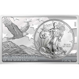 2016 3 oz 30th Anniversary American Eagle Silver Bar and Coin