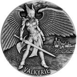 2016 LEGENDS OF ASGARD - VALKYRIE  Chooser of the Slain 3 oz Silver Coin Tokelau