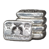 "1 oz Hand Pour Silver Bar STACKERS MINT Series ""LIVE FREE OR DIE"" 2016"