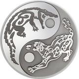 "2017 PREDATOR PREY .999 Silver Coin w/ Palladium $5 ""CROCODILE vs JAGUAR"""