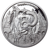 "2017 Gargoyles & Grotesques ""DECAY"" Silver Coin Tchad 1000 Francs  PROOF"