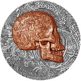 "2017 ""CARVED SKULLS and BONES"" 1 oz .999 Fine Silver Coin Cameroon 1000 Francs"