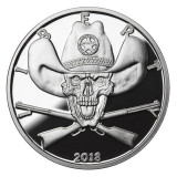 2018 1 oz .999 Silver PROOF Round Western Skulls SHERIFF
