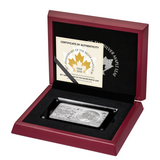 2018 3 oz 30th Anniversary CANADA MAPLE LEAF Silver Bar and Coin Set Box COA