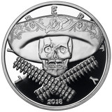 2018 1 oz .999 Silver PROOF Round Western Skulls MEXICAN BANDITO