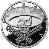 2018 5 oz .999 Silver PROOF Round Western Skulls MEXICAN BANDITO
