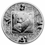 "2021 2oz FILIGREE PANDA .999 Silver Proof ""See-Thru-Coin"" $5 Solomon Islands"
