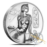2 oz Silver CLEOPATRA Ultra High Relief Round Coin *First In Series*