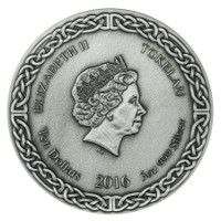 2016 LEGENDS OF ASGARD - VALKYRIE  Chooser of the Slain 3 oz Silver Coin Tokelau