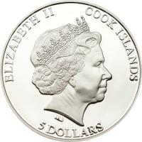 2012 SEYMCHAN METEORITE Silver Coin 5$ Cook Islands