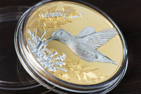 2017 Shades of Nature - HUMMINGBIRD $5 Silver Coin - Cook Islands