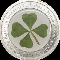 2018 Palau $5 Proof Silver Coin Four Leaf Clover - Ounce of Luck