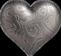 2018 SILVER HEART 1oz Silver Coin Palau $5 COA BOX