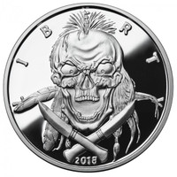 2018 5 oz .999 Silver PROOF Round Western Skulls INDIAN BRAVE