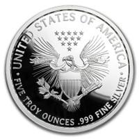 2018 5 oz .999 Silver PROOF Round Western Skulls CAVALRYMAN