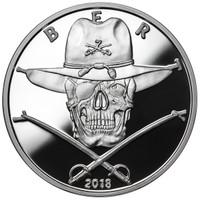 2018 1 oz .999 Silver PROOF Round Western Skulls CAVALRYMAN