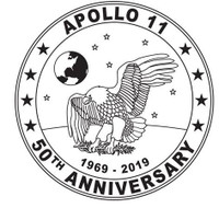 3 oz 50th Anniversary APOLLO 11 Mission Silver Bar and Coin Set Box COA