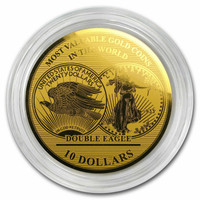 2019 1/100 oz Gold Million Dollar Collection Gold Coin Double Eagle Solomon Islands