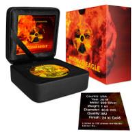 2019 Edition AMERICAN EAGLE Nuke Nuclear Bomb Colorized 1oz Silver coin COA $1 Armageddon