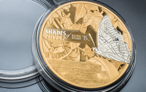 2015 Shades of Nature - Butterfly $5 Silver Coin - Cook Islands