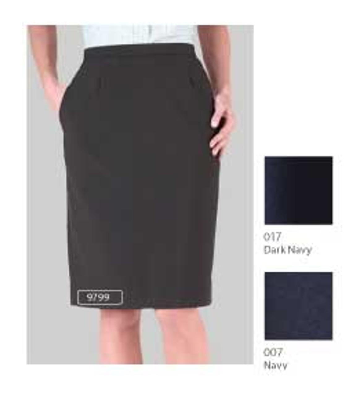 Knee-length uniform skirt for offices or front desk ladies
