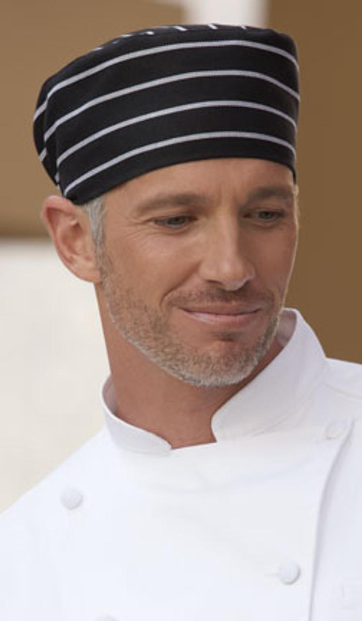 Striped chef hat
