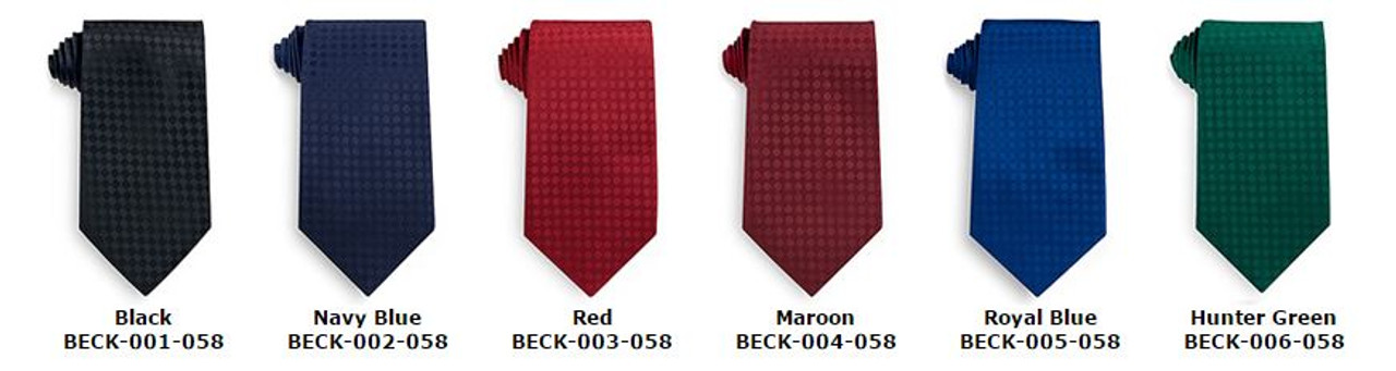 Flat color business ties