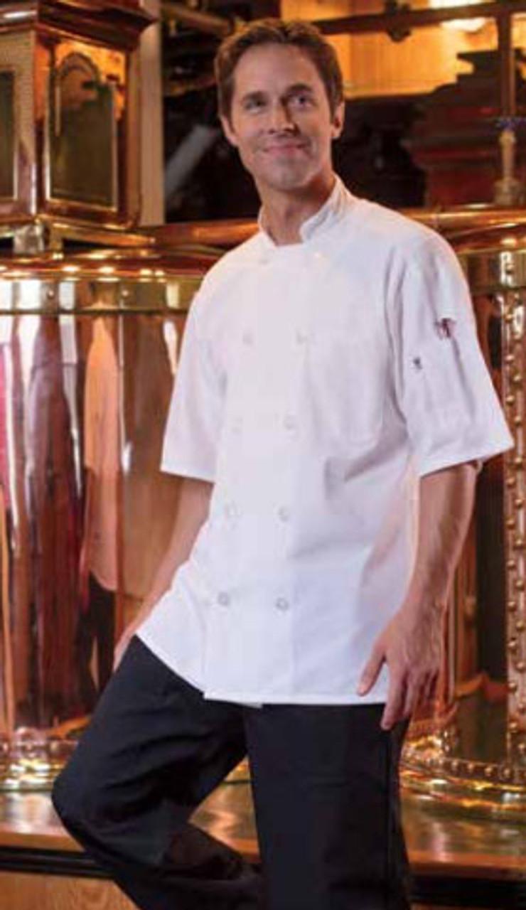 White Delray chef coat