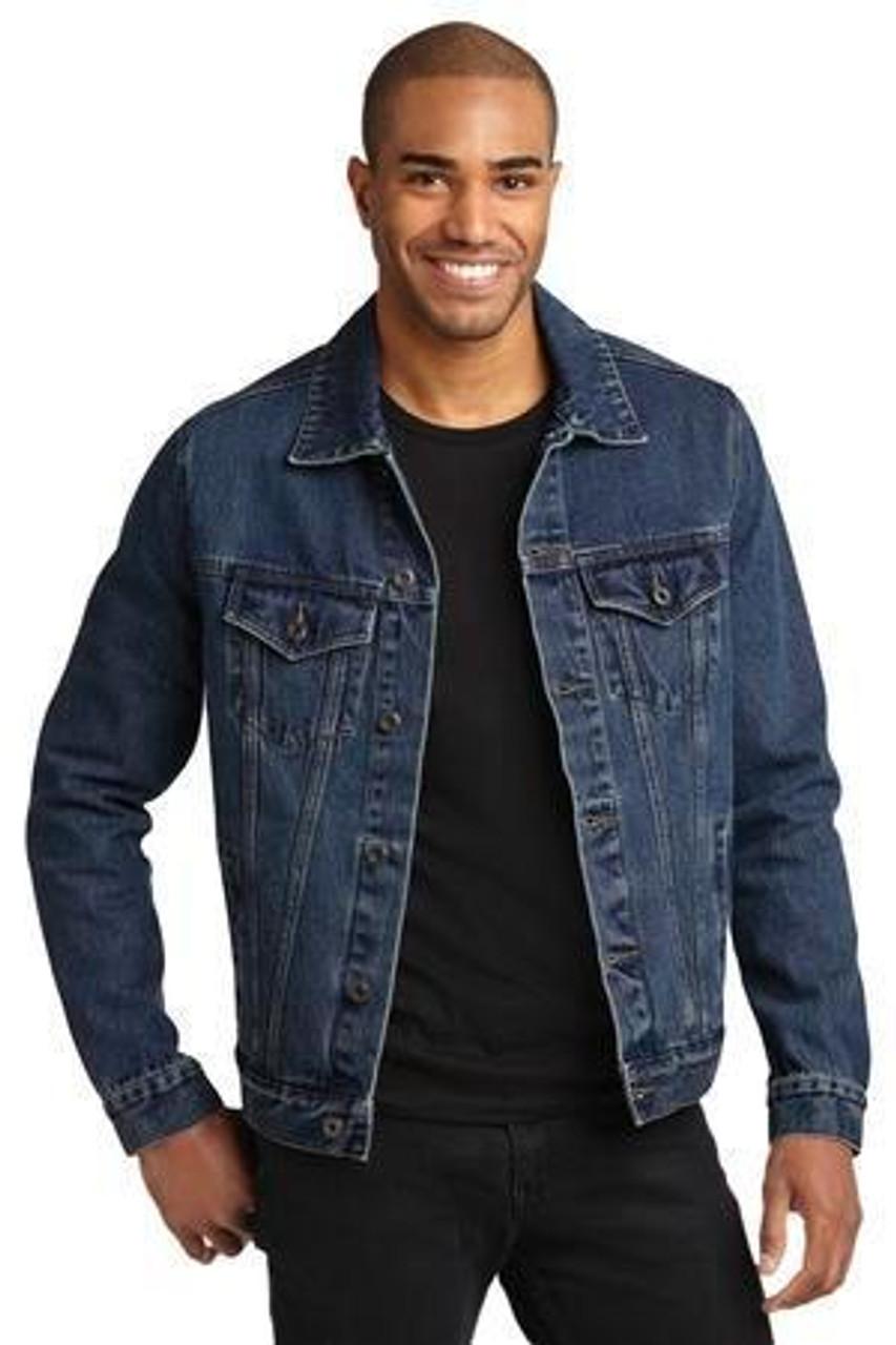 Indigo washed denim jacket