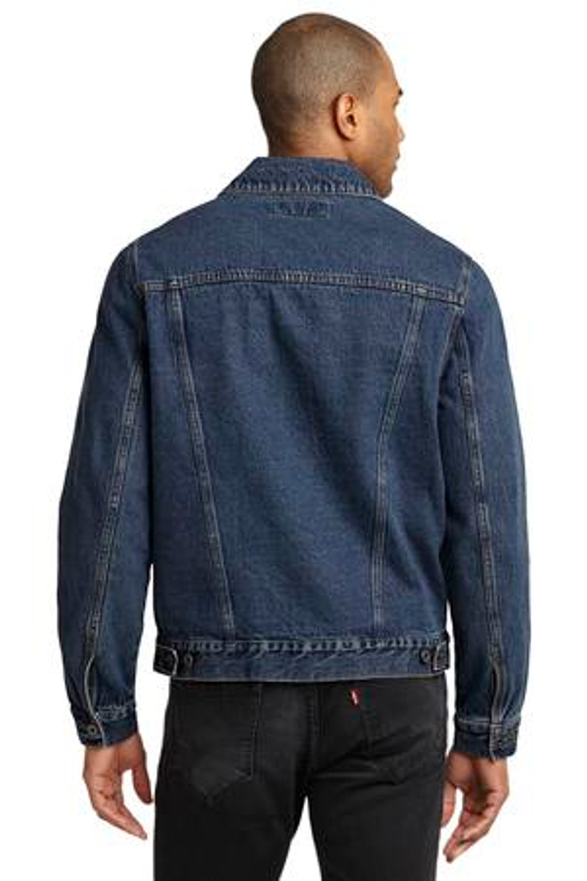 Back view of this denim jacket