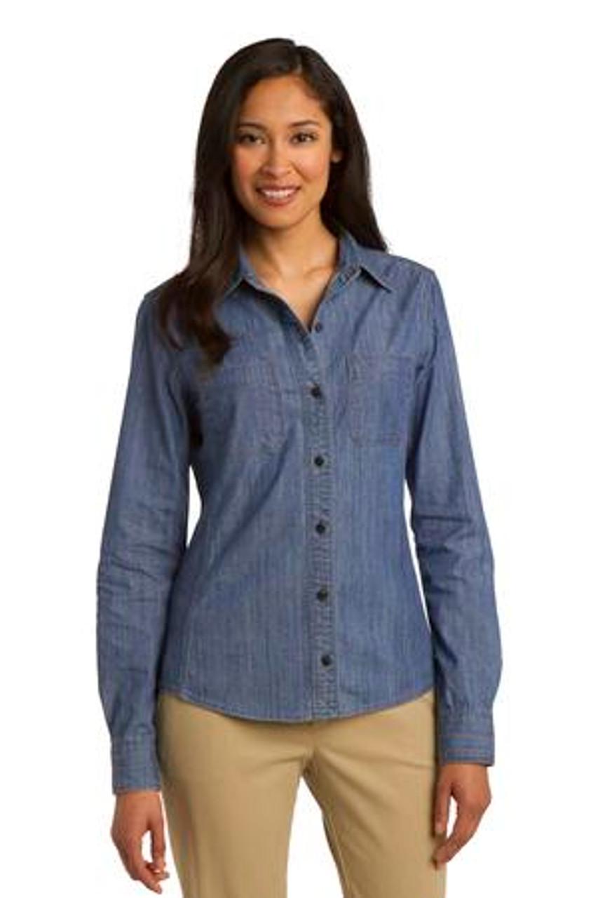 LS652 Modern Ladies Denim Shirt