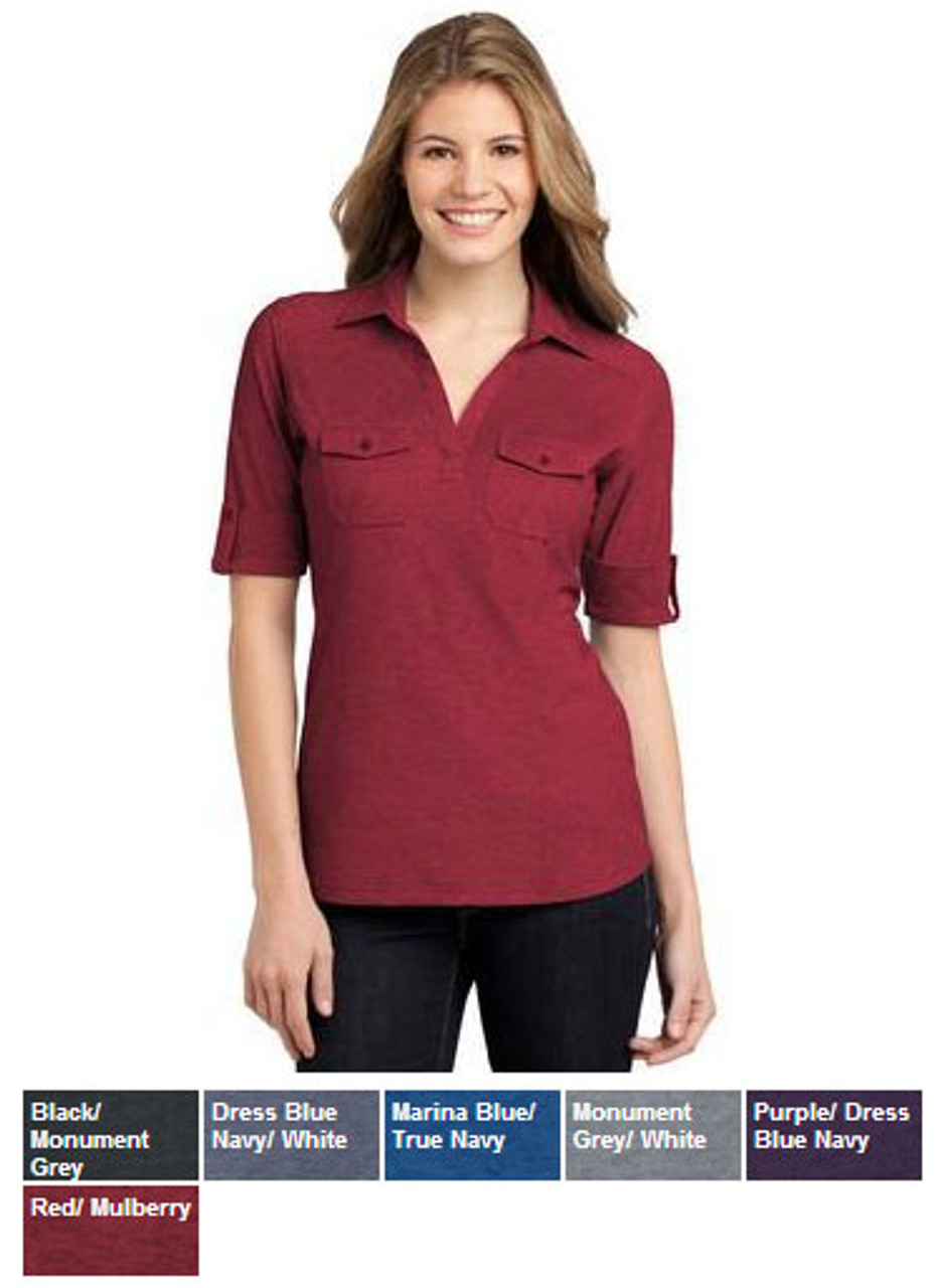 Polo with two breast pockets